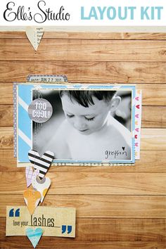 Lashes Layout Kit by Becky Novacek :: Layout Kits :: Exclusives :: Elle's Studio