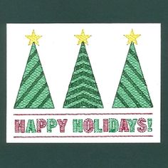 Happy Holidays 2 Card - 5x7 | What's New | Machine Embroidery Designs | SWAKembroidery.com Starbird Stock Designs