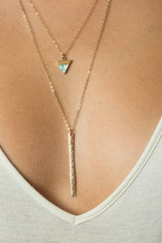 Drop Bar Necklace, Cleavage Necklace, Y Necklace With Gold Bar, Lariat Sterling Silver Drop Necklace, Sexy Necklace with Long Bar, Floral