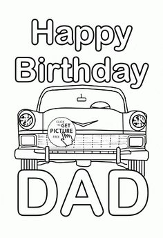 Happy Birthday Brother coloring page for kids, holiday ...