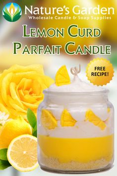 Free recipe to make this lemon curd parfait candle using our new fragrance oil