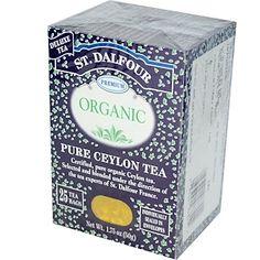 St. Dalfour, Organic, Pure Ceylon Tea, 25 Tea Bags, 1.75 oz (50 g) - iHerb.com