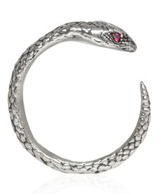 Pamela Love Silver Ruby Serpent Ring at Elements!