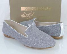 Women's Donald J Pliner DENDA Slip on Loafer Caviar Fabric Silver Size 9.5 #DonaldjPliner #LoafersMoccasins