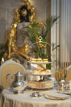 The Ritz. There are few more glamourous options than afternoon tea at The Ritz. There's a piano player! Look at that clotted cream! Dreamy.