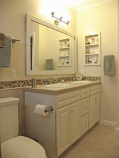 Remodel with a Showplace vanity! Visit www.showplacewood... for the details! Visit www.moreyconstruc... as well for more photos!