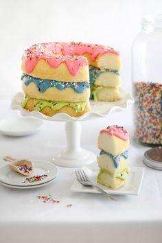 Triple Stack Donut Cake | Sprinkle Bakes