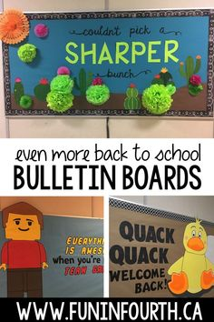 Its my favorite time of year again - back to school prep time!  I love planning and making my back to school bulletin board.  Take a look at even more back to school bulletin board ideas. These boards were all fairly inexpensive and quick to put together, which makes them even better. While youre there dont forget to download my FREE Bulletin Board Inspiration book! #BackToSchoolBulletinBoards #BulletinBoards