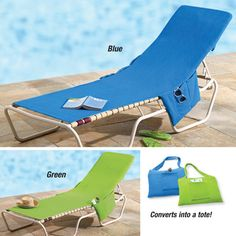 Beach Lounge Chair Cover- Has a pocket for your shades, phone, lotion, etc.