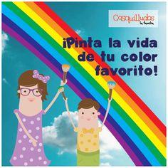 Frase, pinta la vida de tu color favorito. Cosquillina y Cosquillín @Cosquilludos