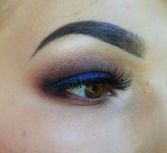 Blue and purple smoky eye #amazingshine #lashes #maybelline #sleekcosmetics I've used Sleek Vintage Romance palette and Maybelline Color Tattoo cream eyeshadow