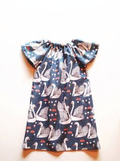 Origami Swan Tunic Dress // 6 months  9 years by dandylionco, - swan print by Andrea Lauren