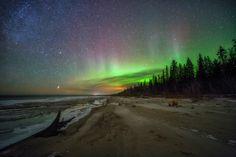 Aurora Borealis at Lesser Slave Lake Alberta Canada [OC] [16001067] #reddit