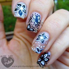 The Digit-al Dozen Does Black & White: Flowers - Peace, Love & Polish