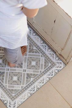 tapis cuisine façon carreaux de ciment