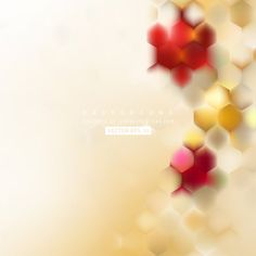 Abstract Hexagon Background Template #freevectors