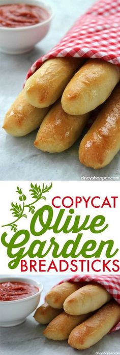 Copycat Olive Garden Breadsticks Make your favorite breadsticks right at home Perfect side for just about any meal Easy and saves s Olive Garden Breadsticks, Bread Recipes, Cooking Recipes, Pasta Recipes, Peeps Recipes, Chicken Recipes, Cooking Games, Noodle Recipes, Burger Recipes