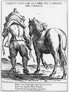 Man Wearing His Horse's Saddle