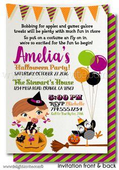 kids halloween costume party invitation printables halloween digital printable files for children halloween invitation - Kids Halloween Party Invite
