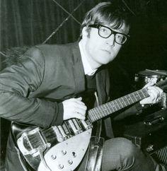 John Lennon with a #Vox !!  it's got a built in tuner and lots of old efx.
