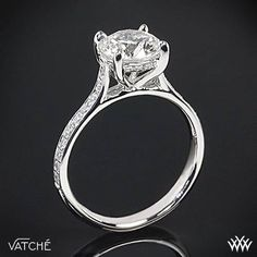 "Vatche ""Saran"" Diamond Engagement Ring, love this style. Round diamond, and simple beautiful."