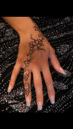 beautiful henna and beautiful nails
