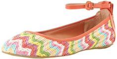 "Luxury Rebel Women's Baxter Ankle-Strap Flat, Blood Orange Multi Ecru, 36 M EU/6 M US Luxury Rebel. $100.00. Made in China. Heel measures approximately 0.25"". Textile, or. Rubber sole"