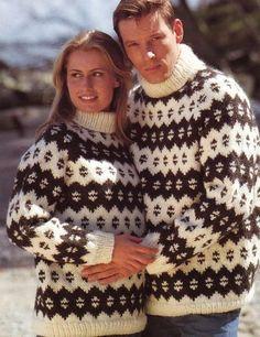 retro his & hers sweaters