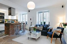 Small And Cozy Swedish Apartment, 42 m2