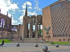 Coventry Cathedral, the Old and the New Coventry Cathedral, Facebook Photos, Cathedrals, Temples, Old Things, Environment, The Unit, Urban, Explore