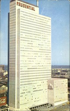 Prudential Building, once the tallest skyscraper in Chicago.  My grandmother took my mother to the Top of the Rock restaurant when she graduated from Cardinal Stritch high school, and my mom took me there, too, when I graduated.  This is where I had my first taste of a Bloody Mary.