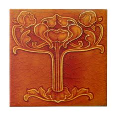 AN005 Art Nouveau Reproduction Antique Tile