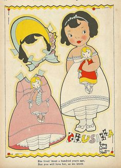 Vintage Paper Doll, Drusilla by shelece, via Flickr