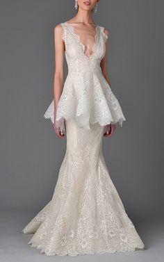 Marchesa Bridal Look 5 on Moda Operandi