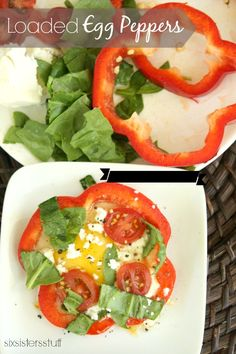 Loaded Egg Peppers - a quick and easy snack!