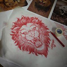 lion tattoo sketch - Buscar con Google