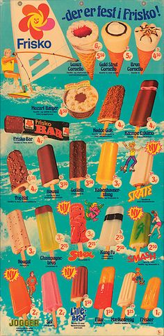 retro foreign ice cream ad. i'm not sure what country this is from, but this stuff looks pretty good.