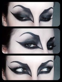 Vampire Eye makeup - Can never get the lines right, but one day I will succeed