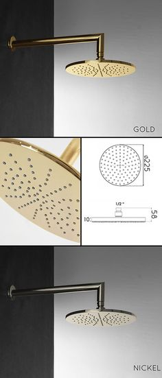 UK suppliers of gold plated shower heads. This gold shower head is part of a larger collection of gold bathroom & shower fittings.