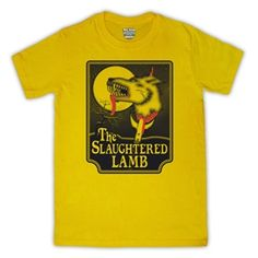 American Werewolf In London The Slaughtered Lamb Pub Mens T-Shirt (Yellow)