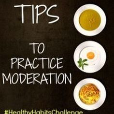How do you practice #moderation really? I've got 10 practical tips: {1} 80/20 Rule: Make at least 80% of what you eat come from whole unprocessed foods or made from scratch recipes and 20% or less from processed snacks or empty calorie treats. Tip: If youre trying to lose weight make it 90/10 until you reach your goal. {2} Eat at least one vegetable with every meal {3} If you want a snack choose fresh fruit a handful of nuts/seeds or lean protein like string cheese or yogurt {4} Include…