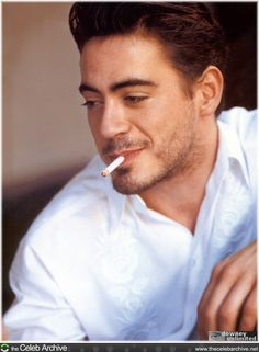 Young RDJr with cigarett   :( <3