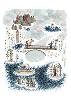 Image of At Pyhäjärvi Lake -print by Anna Emilia