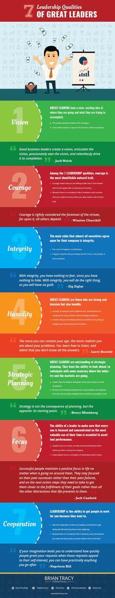 7 Leadership Qualities of All Great Leaders
