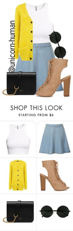 """Untitled #1451"" by unicorn-human on Polyvore featuring H&M, Glamorous, Pink Tartan and Mulberry"