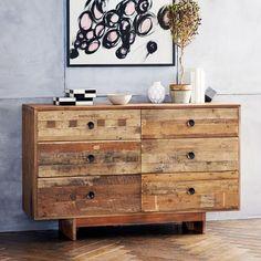 Emmerson Reclaimed Wood 6-Drawer Dresser - Natural | west elm