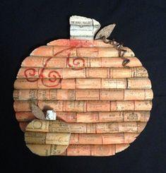 Cork pumpkin wall hanging
