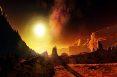 """Draco III - view from the front of the """"Angry Planet"""" expedition pavilionn"""