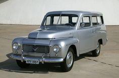 silver Volvo PV445 Duett(1957), assembled in Rio de Janeiro, Brazil, by Carbrasa.