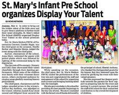 Press Release of Display Your Talent 2015 #DisplayYourTalent #SMIPS #StMarysInfantPreSchool #st_marys_infant_pre_school_jammu #preschoolsinjammu